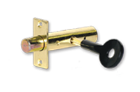 Security bolts pack of 2 with key - Brass
