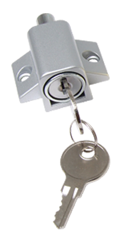 Patio Door & Window Press Lock - Aluminium