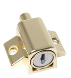 Patio Door & Window Press Lock - Brass
