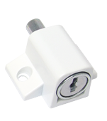 Patio Door & Window Press Lock - White